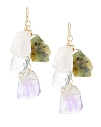 Devon Leigh Tiered Stone Drop Earrings