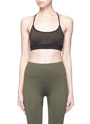 Koral 'Lucent' Lattice Back Performance Bra Top Green