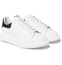 Alexander Mcqueen Larry Exaggerated Sole Leather Sneakers White