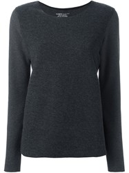 Majestic Filatures Long Sleeve Sweater Grey