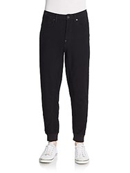 G Star Stretch Cotton Denim Jogger Pants Black