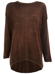Avant Toi Long Dyed Jumper Brown