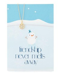Lydell Nyc Snowflake Necklace With Friendship Card Gold
