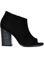 Alexa Wagner Open Toe Booties Black