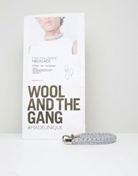 Wool And The Gang Wool And The Gang Diy Mixi Macrame Choker Necklace Kit Grey