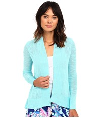 Lilly Pulitzer Isle Cardigan Surf Blue Women's Sweater
