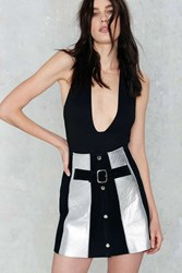 Nasty Gal After Party Vintage Augusta Leather Skirt