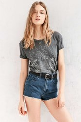 Urban Outfitters Land Of The Free Eagle Tee Washed Black
