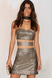 Nasty Gal Venetian Jacquard Mini Skirt