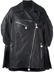 Drome 'Oversized' Leather Jacket Black