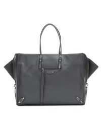Balenciaga Papier A4 Zip Around Leather Tote Grey