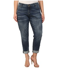 Kut From The Kloth Plus Size Catherine Boyfriend Jeans In Worldly Worldly Women's Jeans Blue