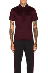 Alexander Mcqueen Mercerized Jersey Polo In Red