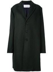 Agi And Sam Buttoned Mid Length Coat Green