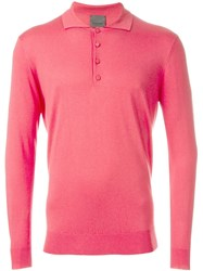 Laneus Longsleeved Polo Shirt Nude And Neutrals