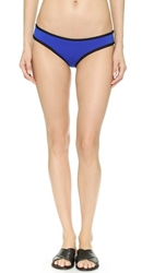 Lisa Lozano Neoprene Tri Bikini Bottoms Royal