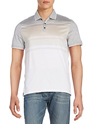 Calvin Klein Slim Fit Striped Colorblock Polo Shirt Grey