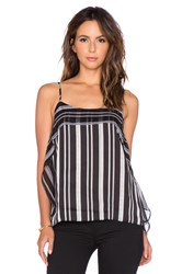 Bcbgeneration Stripe Ruffle Tank Black