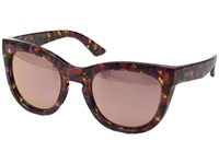 Smith Optics Sidney Flecked Mulberry Tortoise Rose Gold Mirror Fashion Sunglasses Brown