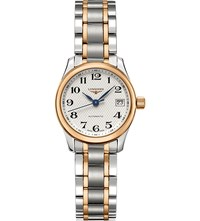 Longines L2.128.5.79.7 Master Stainless Steel And Rose Gold Toned Watch Silver