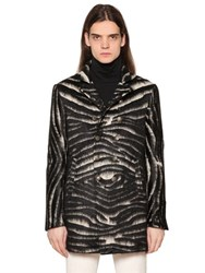 John Varvatos Zebra Effect Blend Coat