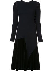 Derek Lam Cut Out Long Sleeve Dress Blue