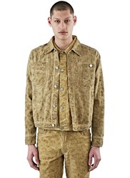 Telfar Embroidered Denim Jacket Beige