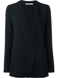 T By Alexander Wang Open Front Jacket Black