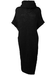Isabel Benenato Knitted Cape Black