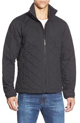 Men's Nau Quilted Zip Front Down Jacket Caviar