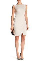 Marc New York Sleeveless Tulip Hem Bodycon Dress White