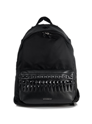 Givenchy Leather And Nylon Studded Backpack