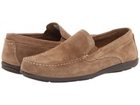 Rockport Cape Noble 2 Venetian Vicuna Suede Men's Slip On Shoes Brown