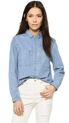 Rolla's Sailor Denim Shirt Beach Blue