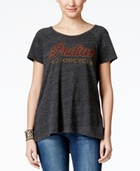 Lucky Brand Jeans Short Sleeve Graphic T Shirt Charcoal