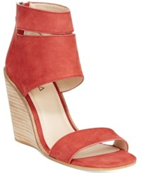 Kelsi Dagger Brooklyn Mackie Wedge Sandals Women's Shoes Rosso