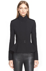 Alexander Mcqueen Double Breasted Military Jacket Black