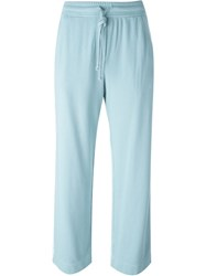 Raquel Allegra Cropped Track Pants Blue