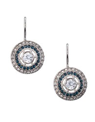 Lauren Ralph Lauren Cubic Zirconia Drop Earrings Blue