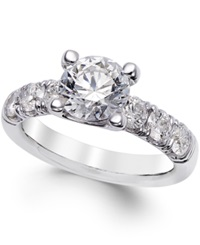 X3 Diamond Engagement Ring 2 1 2 Ct. T.W. In 18K White Gold