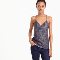 J.Crew Collection Carrie Cami In Laser Cut Leather
