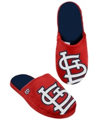 Forever Collectibles Men's St. Louis Cardinals Big Logo Slippers