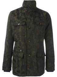 Eleventy Camouflage Field Jacket Black
