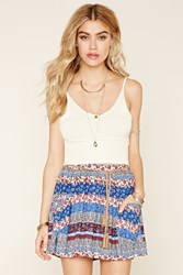 Forever 21 Mixed Print Belted Skirt