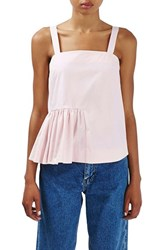 Topshop Women's Boutique Ruffled Peplum Camisole Pink