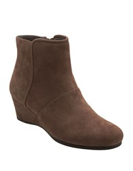 Easy Spirit Lorcie Suede Wedge Ankle Boots Taupe
