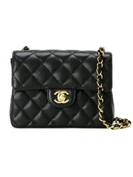 Chanel Vintage Small Quilted Crossbody Bag Black