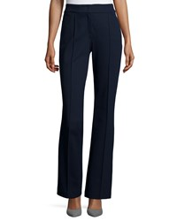 Escada Thaisune Flare Leg Trousers Midnight Blue Women's