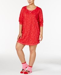 By Jennifer Moore Plus Size Printed Sleepshirt And Socks Set Only At Macy's Christmas Lights