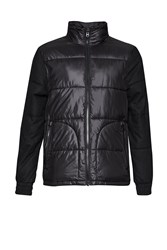 French Connection Men's Mountain Pass Plain Padded Jacket Black